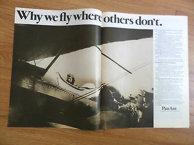 1971 Pan Am Airline Ad Why we Fly Where Others Don't