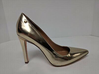 Calvin Klein Brady Pump, Gold Metallic, Womens 8.5 M