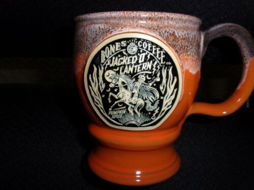 ITEM #1 /////// 2020 BONES COFFEE HALLOWEEN MUG GOBLET COLLECTIBLE SOLD OUT