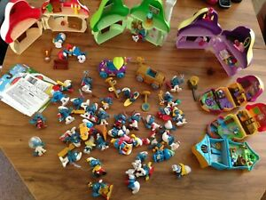 Large lot smurf toys boy girl