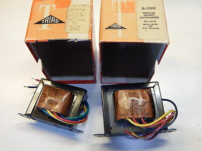 Triad A-111x And A-139x Vertical Output Transformers You Get Both