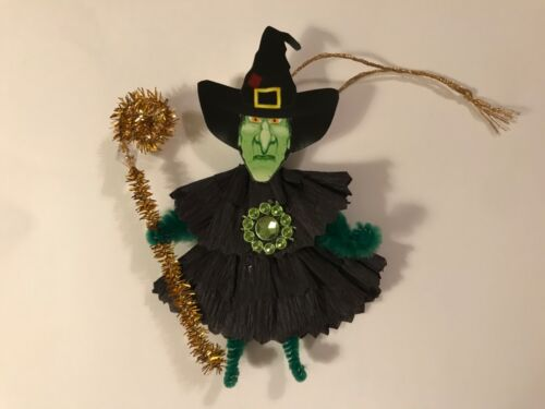 Paper doll Vintage Halloween ornaments, Witch item# 11