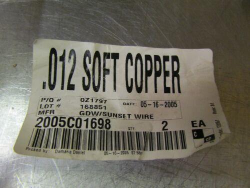 New Sunset Wire .012 Soft Copper Wire 1 Pound Spool