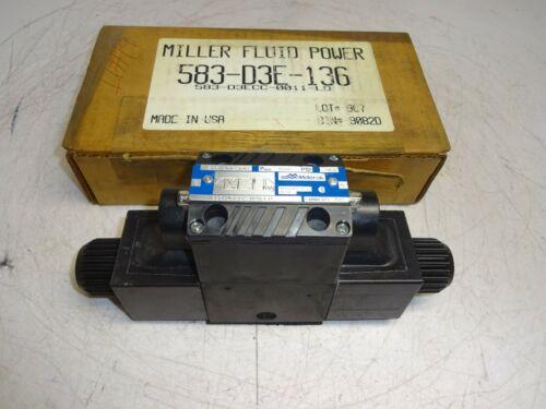 MILLER FLUID POWER 583-D3ECC-0011-L0 HYDRAULIC DIRECTIONAL VALVE