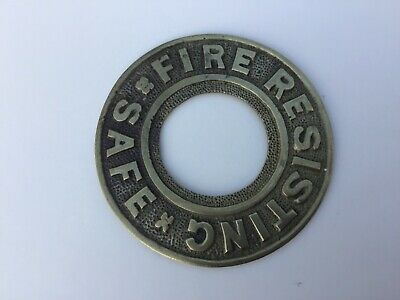 safe plaque vintage Fire resisting safe plaque  Antique Safe Plaque