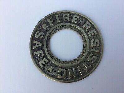 safe plaque vintage Fire resisting safe plaque  Antique Safe Plaque