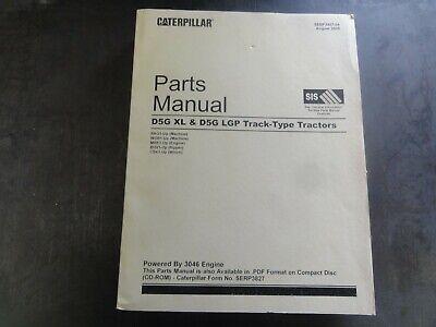Caterpillar Cat D5g Xl D5g Lgp Track Type Tractors Parts Manual Sebp3827-04