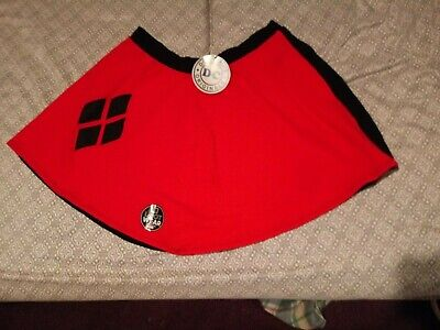 Harley Quinn dc skirt red and with diamonds New with tags Loot wears