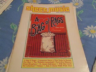 book JAN 1986 SHEET MUSIC MAGAZINE PIANO/GUITAR A BAG OF RAGS 2 STEP