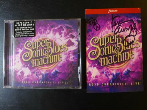 """SUPERSONIC BLUES MACHINE- AUTOGRAPHED """"ROAD CHRONICLES"""" SIGNED POSTCARD & NEW CD"""