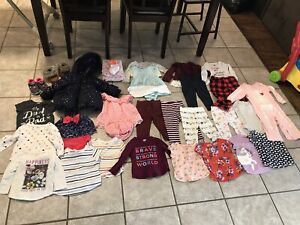 Gently used baby girl clothing for sale sizes 12-24months