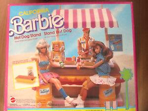 Barbie-California-Hot-dog-Stand-Bancarella-Hot-dog-4463-NUOVO-RARO-1987