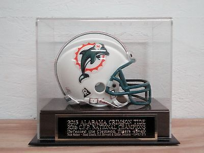 Mini Helmet Case With An Alabama Crimson Tide 2016 CFP Champions (Champions Helmet Case)