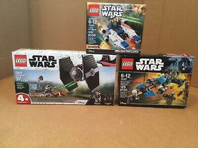 3 SETS LEGO   STAR WARS  75237 TIE FIGHTER- 75167 BOUNTY HUNTER- 75160 NIB