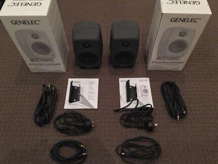 Pair of Genelec 6010A Active Studio Monitor Speakers-Amazing Conditon