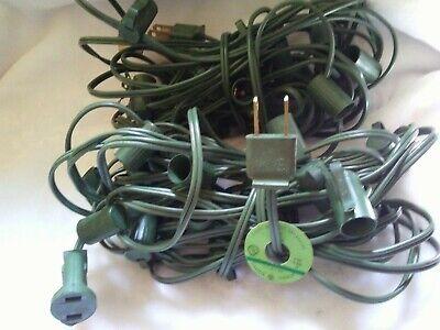 2 GE Vintage c-7 c-7 1/2 Christmas Light Strings w/ clips ~ 40 total sockets.