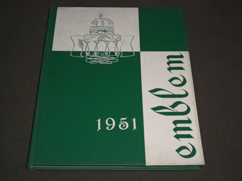 1951 THE EMBLEM CHICAGO TEACHERS COLLEGE YEARBOOK - ILLINOIS - PHOTOS - YB 1135