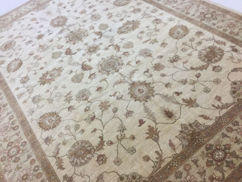 9 X 12 Beige Brown Ziegler Persian Oriental Area Rug Hand Knotted Wool All Over