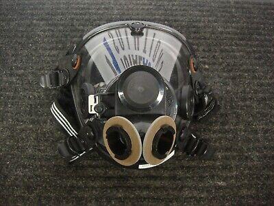 New Large Scott Av2000 Scba Full Respirator Mask Facepiece 804019-72 Twin Filter