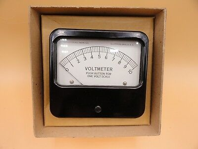 Analog Triplett Panel Voltmeter 0 - 1 -10 Volt White Face Meter