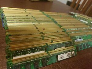 10 piece  lot  Memory RAM GOLD RECOVERY Computer Parts Precious Metal Scrap