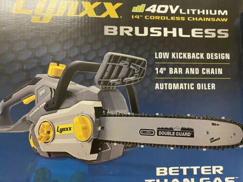 LYNXX 40V Lithium 14 In. Cordless Chain Saw NEW