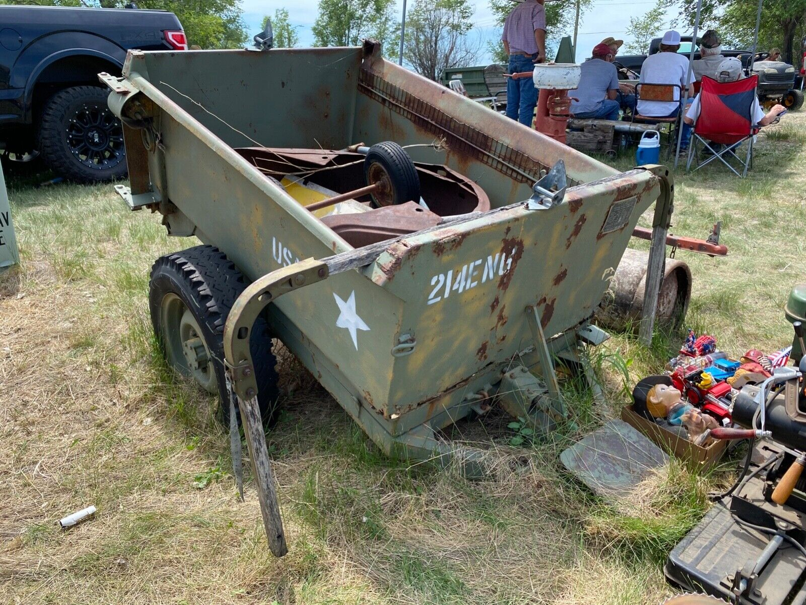 WWII US ARMY JEEP AIRBORNE 1944 CONVERTO DUMP TRAILER