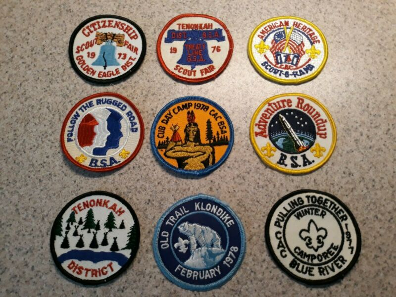 Vintage Boy Scout Patches badges lot of 19