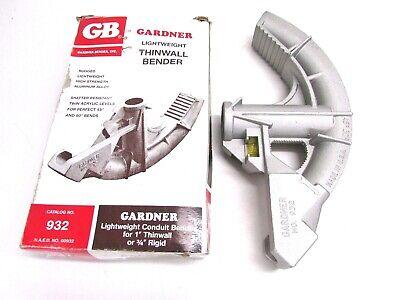New Gb Gardner Bender Conduit Bender W Levels 1 Thinwall 34 Rigid 932