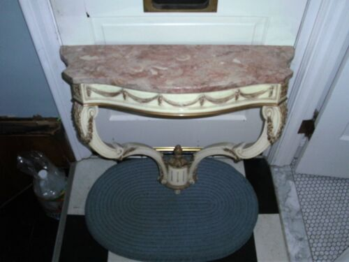 Marble Top Hanging Console Table