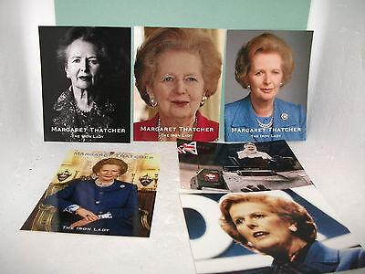 margaret thatcher photo / picture set of  6 signed (facsimile signature)