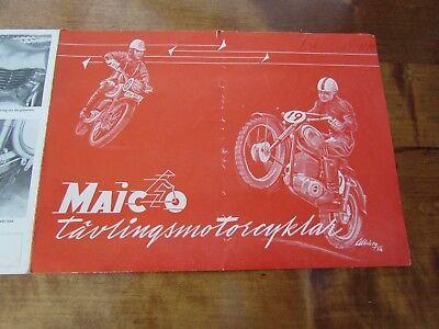 Maico Sport & Motocross Original Sales Brochure C1954 Rare, twinshock