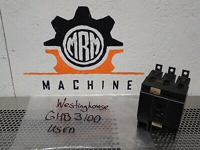 Westinghouse GHB3100 Circuit Breaker 100A 3 Pole Used With Warranty