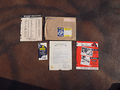 Vintage 1952 Monroe Auto Equipment Company Original Letter~Catalogs~Envalope for sale  Shipping to Canada