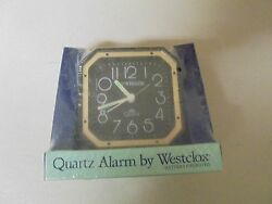Westclox Quartz AA Battery Operated Model 47300 Black Alarm Clock
