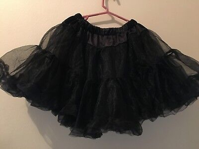 Black Deluxe TULLE PETTICOAT 5-Layer One Size Halloween Costume Party Fiesta