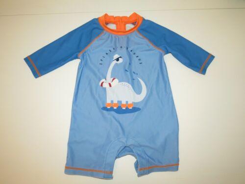 Boys Baby Gap Dinosaur Blue Shorty Rash Guard One Piece Swimsuit Dino 18-24m