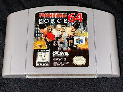 Fighting Force 64 (Nintendo 64, 1999) Cleaned / Tested / Authentic - N64