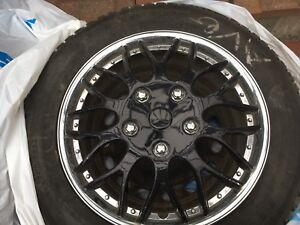 Pneu d'hiver + rims 5x112 + cap roue  13/32