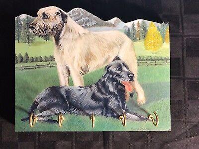 Irish Wolfhound Leash - Irish Wolfhound Key Leash Holder - Wood