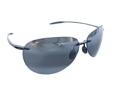 ae08a9783a3 Sugar Beach MAUI JIM Polarised Sunglasses + Case 421 02 Black   Neutral Grey