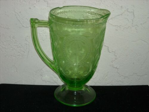 Horseshoe Indiana No. 612 Pitcher As Is  Green