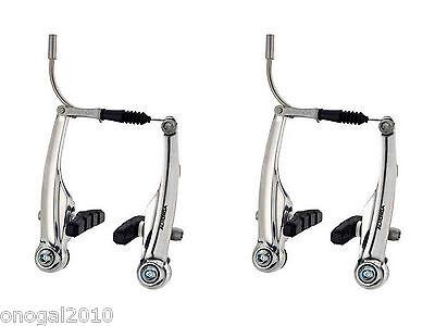 2x Freno Puente Frenos V Brake ALHONGA Aluminio Plata Bicicleta MTB BTT...