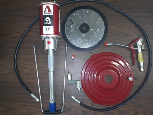 9911-H1 NEW Alemite 50:1 Air Operated Grease Pump w/ accessories fits 35# Bucket