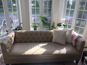 Divan/Sofa/Canapé cuir Beige