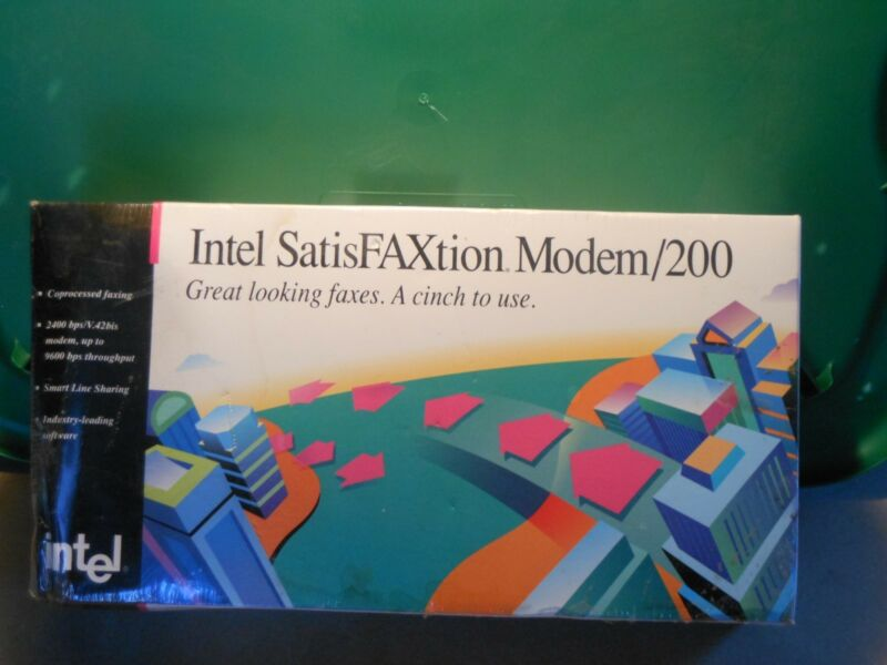 """NEW"" Intel SatisFAXtion Modem/200 internal micro channel modem"