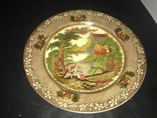 "ROYAL STAFFORDSHIRE POTTERY JENNY LIND 1795 MEAT CHOP ROUND PLATTER 12.5"" DIAMET"