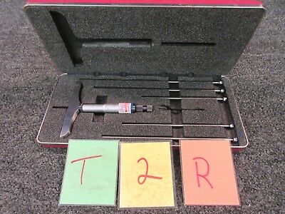 Starrett Vernier Depth 445 Micrometer Gauge Shop Machinist Full Base Tool Used