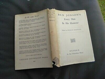Ben Jonson Every Man In His Humour Oxford Clarendon Press (Ben Jonson Every Man In His Humour)
