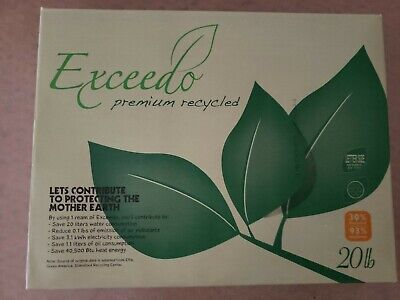 Exceedo Premium Print Copy Paper - 20lb. 30 Recycled 93 Bright - 8.5x11 500